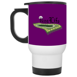 RugLife BLACK White Travel Mug