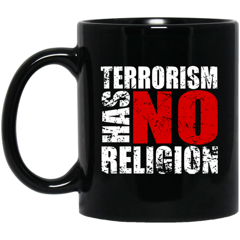 TerrorHasNoReligion WHITE 11oz Black Mug