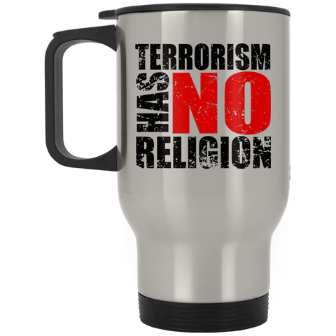 TerrorHasNoReligion BLACK Stainless Travel Mug
