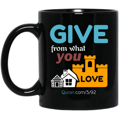 Charity 11oz Black Mug