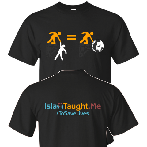 ITM Save.One.Save.All 2sided Gildan Tshirt NoURL - IslamTaught.Me - 1
