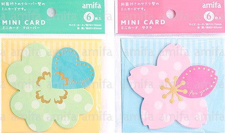 Amifa Mini Cards - Sakura & Clover