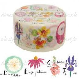 "Amifa Washi Tape Middle ""Alphabet Flowers"""