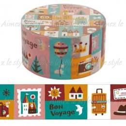 "Amifa Washi Tape Middle ""World Journey"""