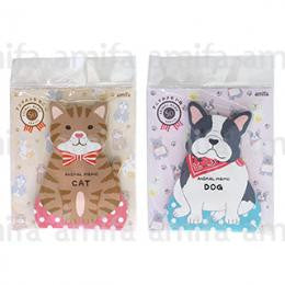 "Amifa Die-cut Animal Memo-pads ""Dogs/Cats"""