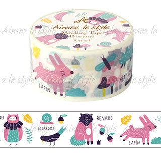 "Amifa Washi Tape Middle ""Animal"""