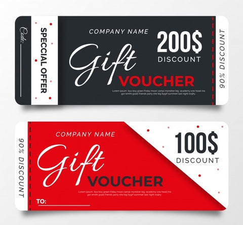 Rack Cards (Vouchers / Tickets)
