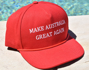 MAKE AUSTRALIA GREAT AGAIN - Red Hat with Free Worldwide Shipping.
