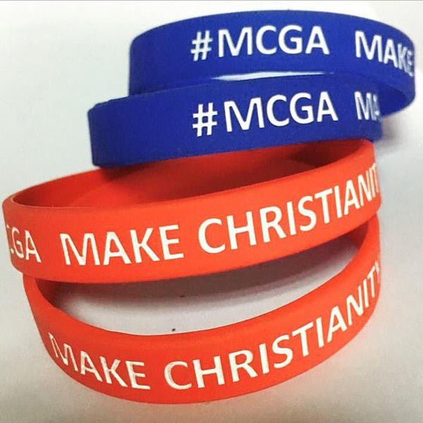 MAKE CHRISTIANITY GREAT AGAIN WRISTBAND (Red, Free Worldwide Shipping)