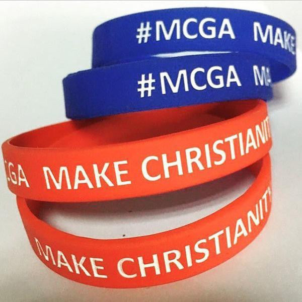 MAKE CHRISTIANITY GREAT AGAIN WRISTBAND (Blue, Free US Shipping)