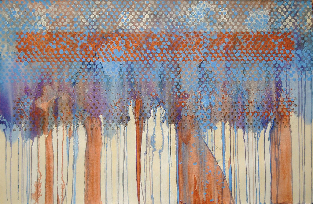 Morning Song 25 X 40 Inches - Acrylic On Watercolor Paper