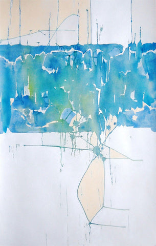 Swim 40 X 25 Inches - Acrylic On Watercolor Paper