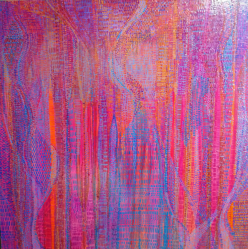 "Joy  48 x 48"" acrylic on canvas"