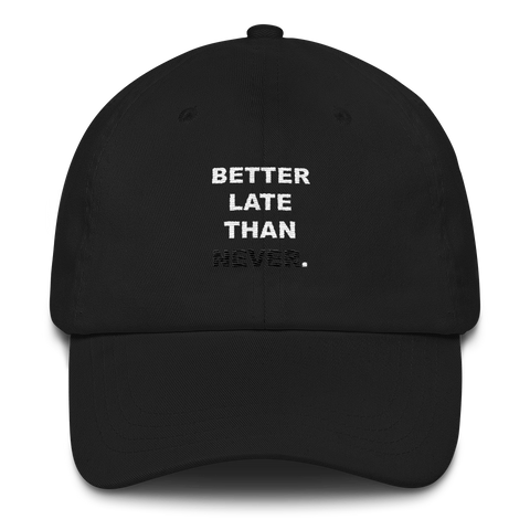 Better Late Than Never Hat (Black)