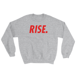 RISE. Crewneck (Grey/Red)