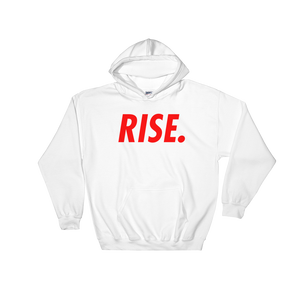 RISE. Hoodie (White/Red)