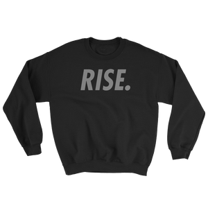 RISE. Crewneck (Black/Grey)