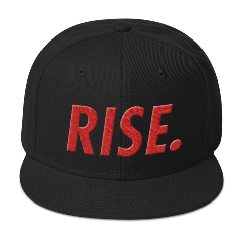 RISE. Snapback (Black/Red)