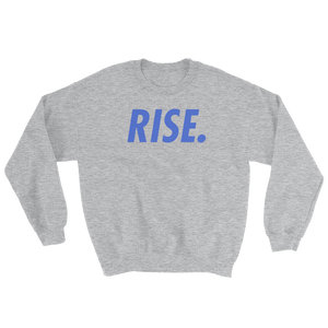 RISE. Crewneck (Grey/Royal)
