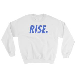 RISE. Crewneck (White/Royal)