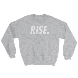 RISE. Crewneck (Grey/White)