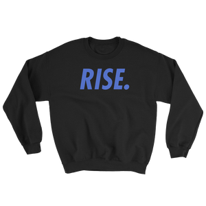 RISE. Crewneck (Black/Royal)