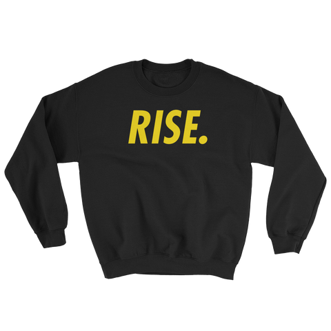 RISE. Crewneck (Black/Yellow)