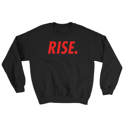 RISE. Crewneck (Black/Red)