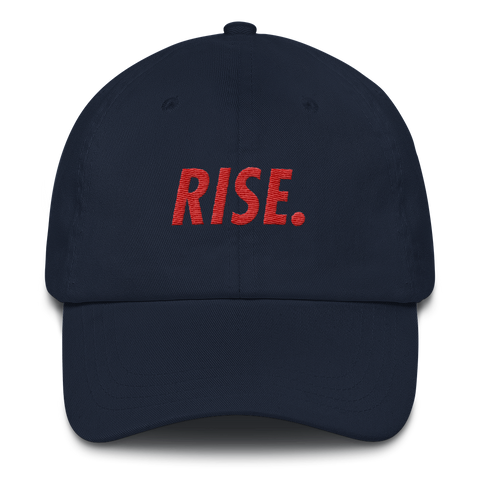 RISE. Hat (Navy/Red)