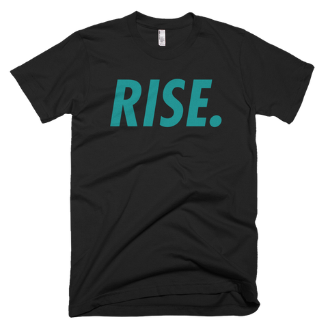 RISE. T-Shirt (Black/Teal)
