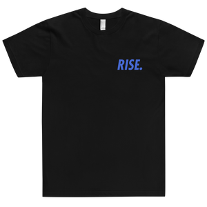 RISE. T-Shirt (Black/Royal)
