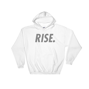 RISE. Hoodie (White/Grey)