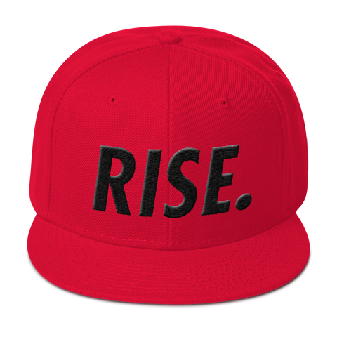 RISE. Snapback (Red/Black)