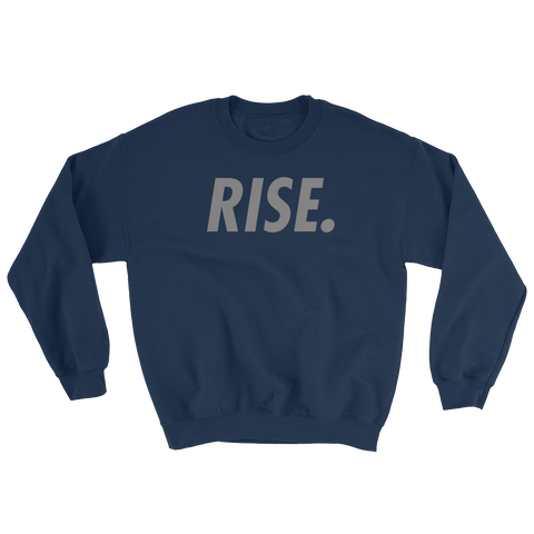 RISE. Crewneck (Navy/Grey)