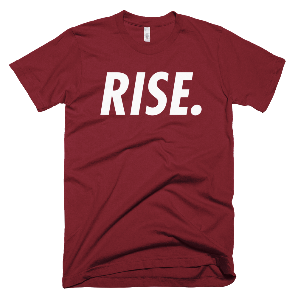 RISE. T-Shirt (Burgundy/White)