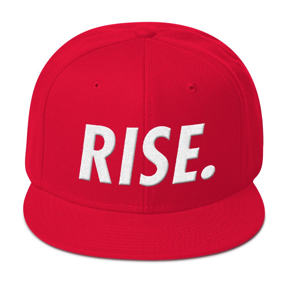 RISE. Snapback (Red/White)