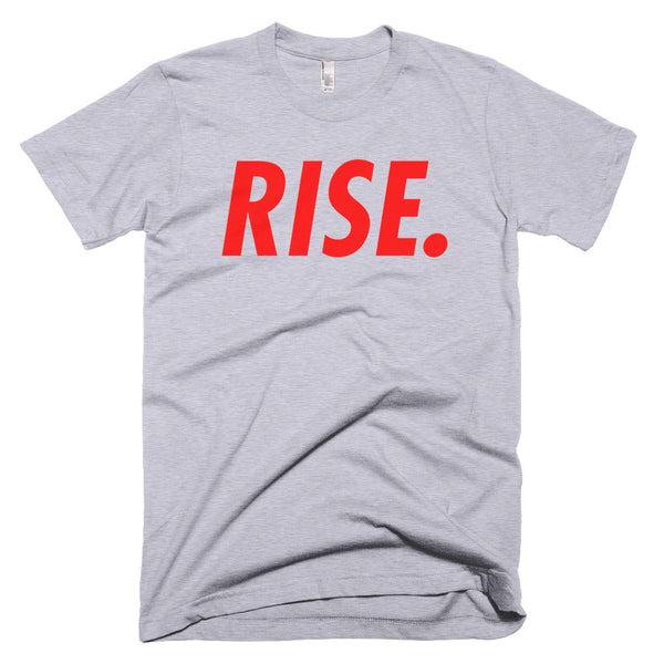 RISE. T-Shirt (Grey/Red)