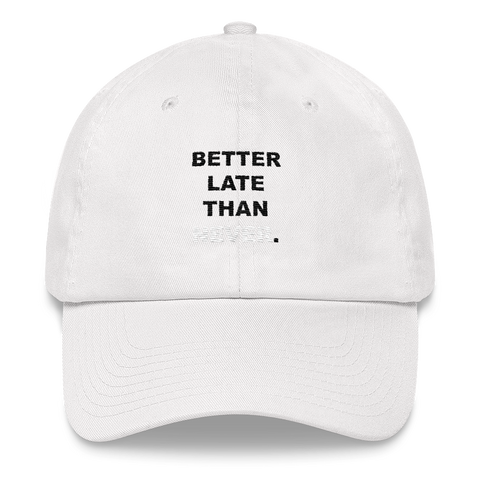 Better Late Than Never Hat (White)