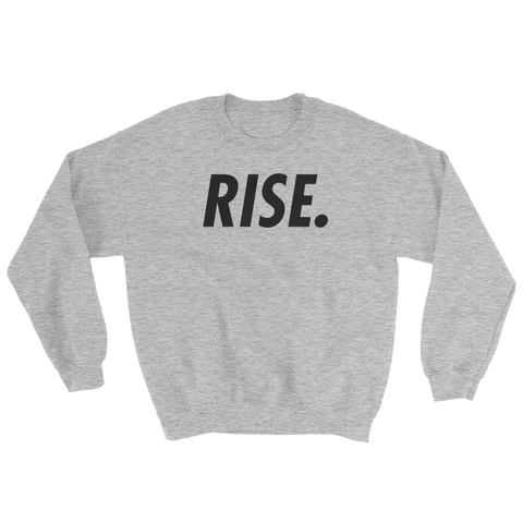 RISE. Crewneck (Grey/Black)