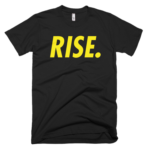 RISE. T-Shirt (Black/Yellow)