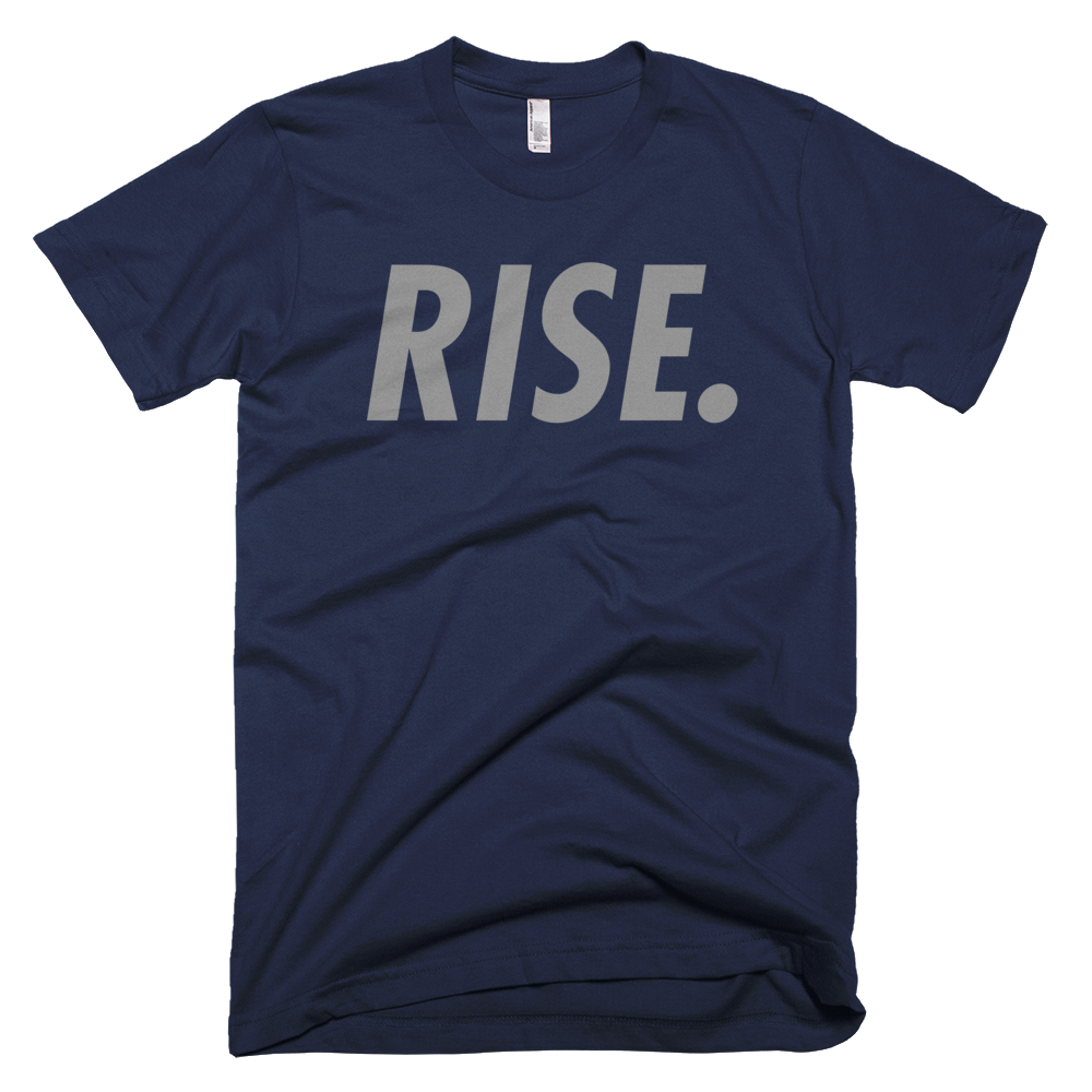 RISE. T-Shirt (Navy/Grey)