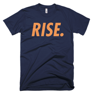 RISE. T-Shirt (Navy/Orange)