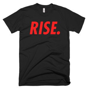 RISE. T-Shirt (Black/Red)