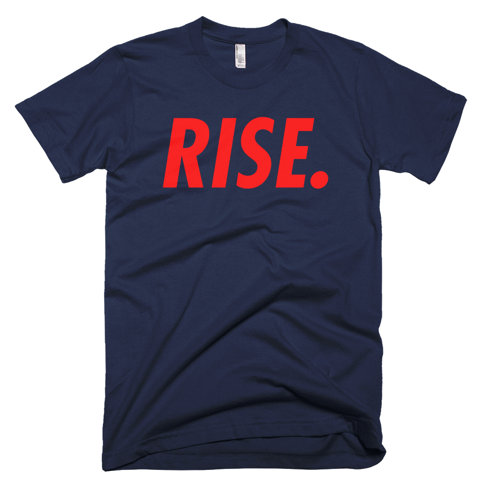 RISE. T-Shirt (Navy/Red)