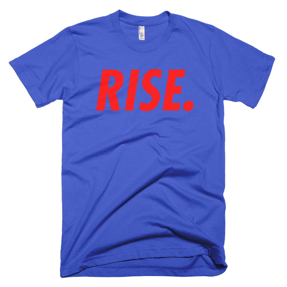 RISE. T-Shirt (Royal/Red)
