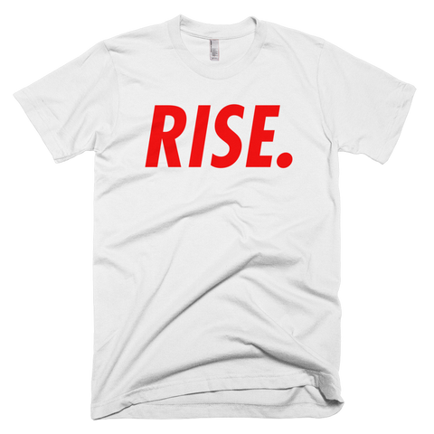 RISE. T-Shirt (White/Red)