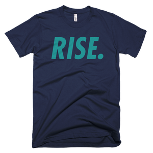RISE. T-Shirt (Navy/Teal)