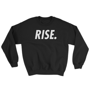 RISE. Crewneck (Black/White)