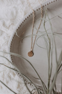 Sedona Crescent Necklace - Gold Filled