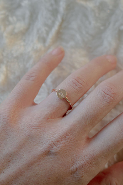 Sun Ray Stamped Ring